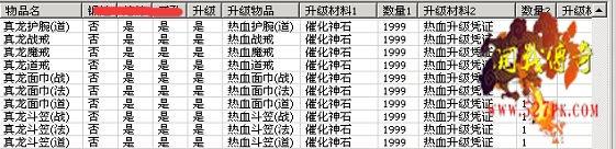 装备升级材料表11